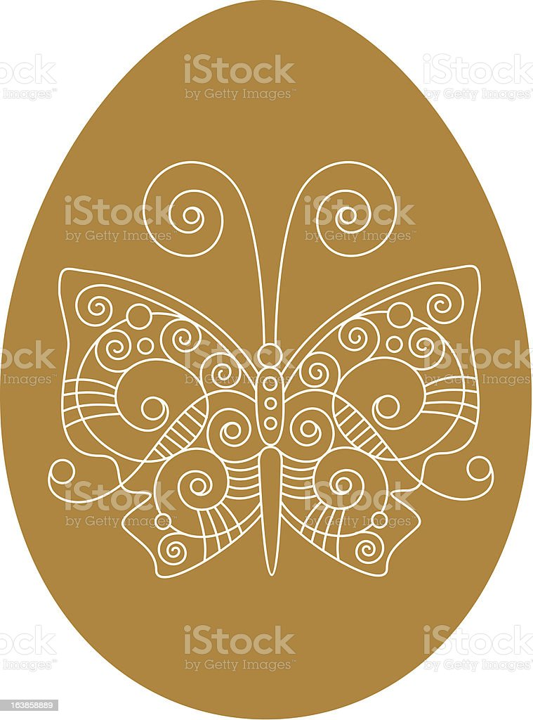 egg with butterfly royalty-free stock vector art