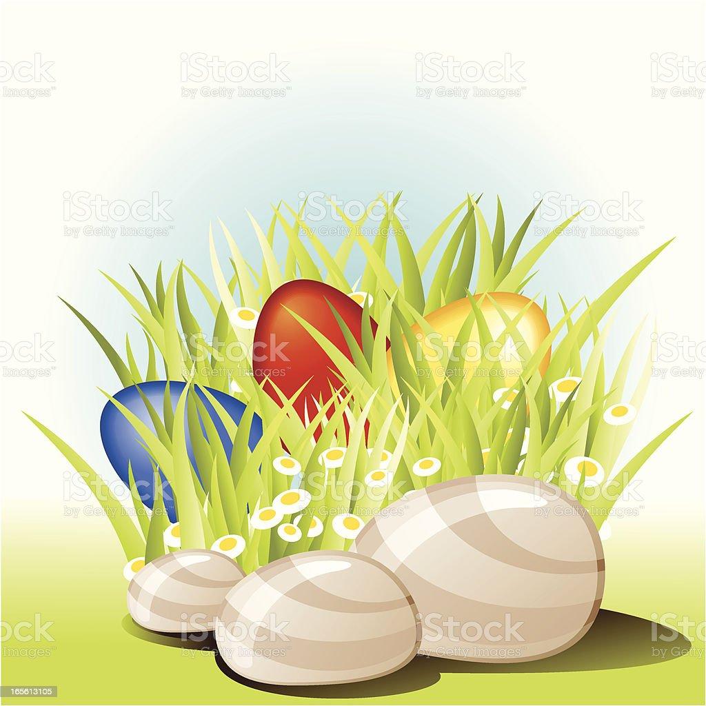 Egghunt royalty-free stock vector art