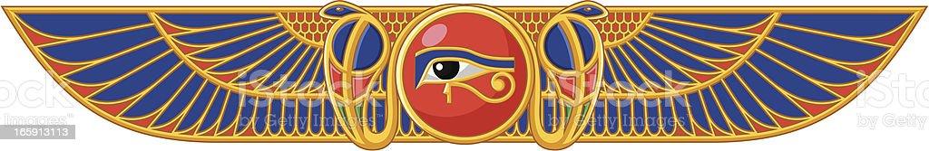 Egiptian Sun vector art illustration