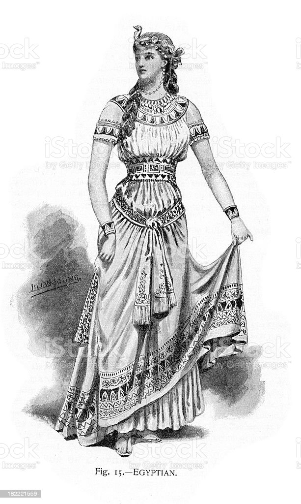 Egyptian Costume royalty-free egyptian costume stock vector art & more images of 19th century