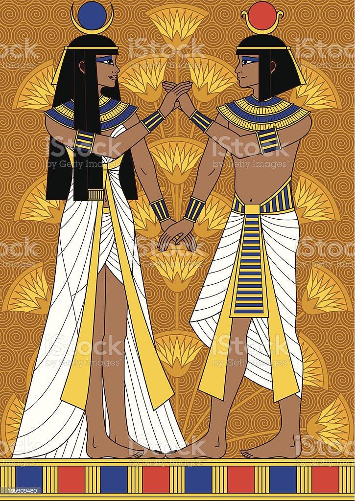 Egyptian Couple royalty-free stock vector art