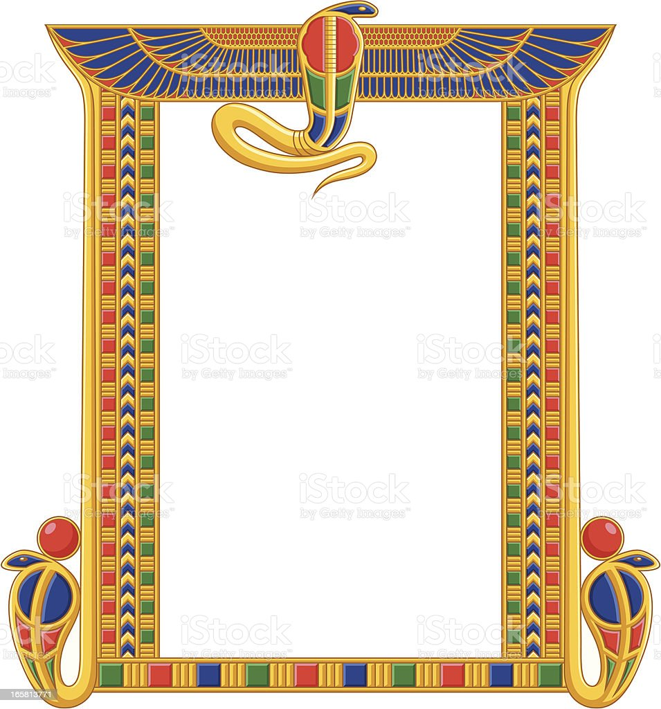 Egyptian Frame with Snakes royalty-free stock vector art