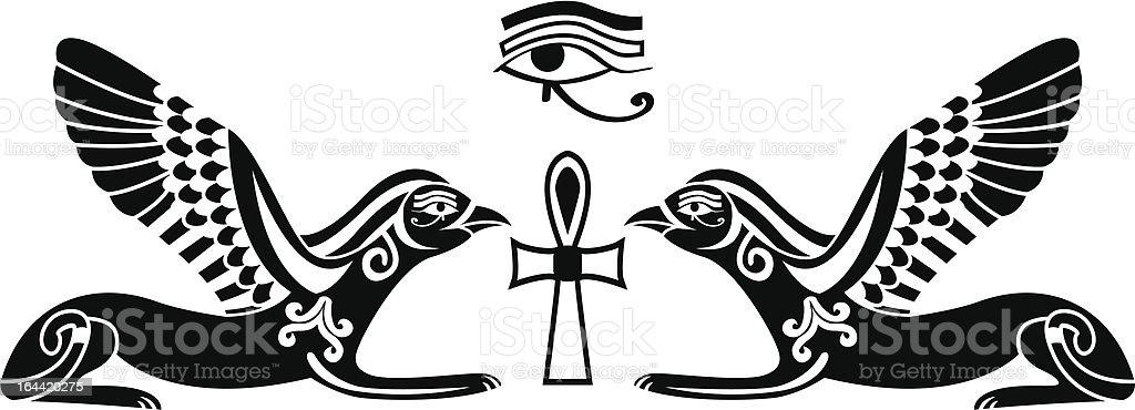 ANIMAL STENCILS The Artful Stencil EGYPTIAN HAWK STENCIL