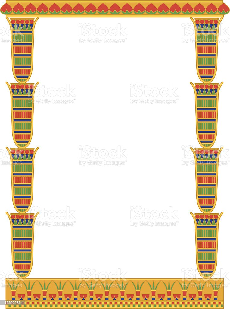 Egyptian Papyrus Frame Stock Vector Art & More Images of Africa ...