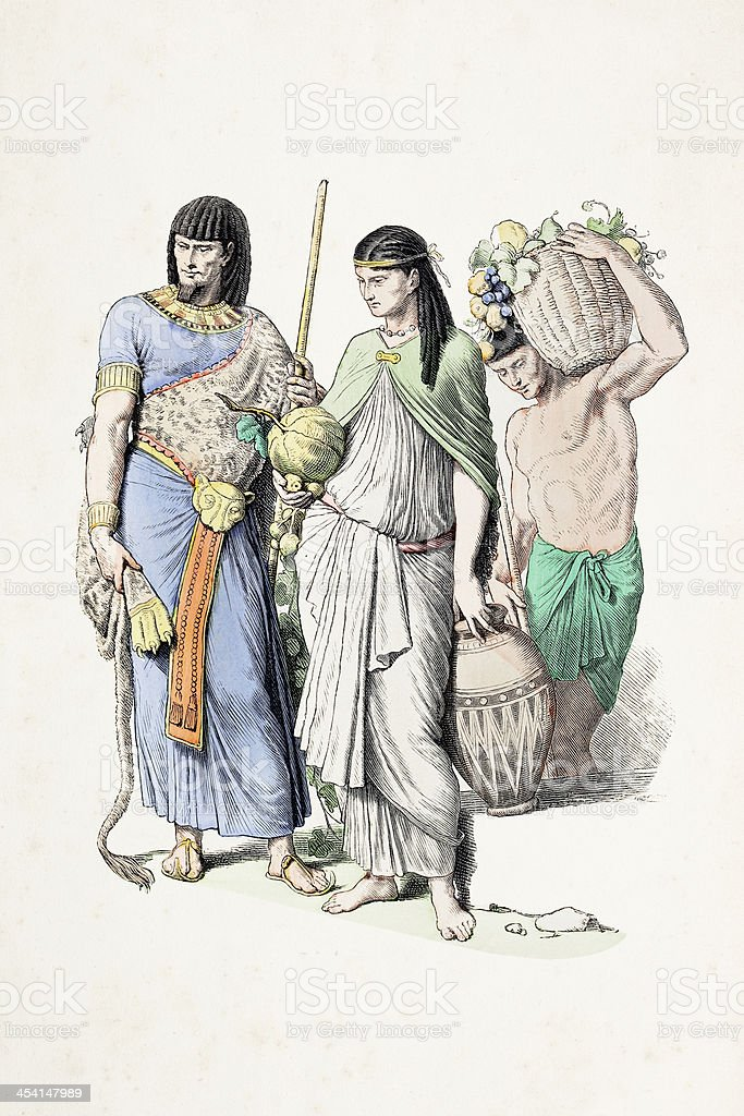 Egyptian people in traditional clothing from B.C. royalty-free egyptian people in traditional clothing from bc stock vector art & more images of 19th century