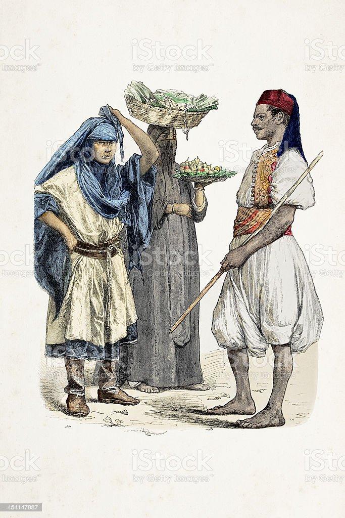 エジプト人の伝統的な服装 - 19世紀のベクターアート素材や画像を多数 ...