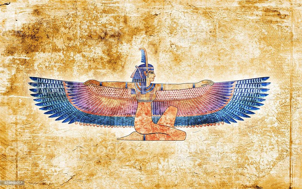 Egyptian queen drawing vector art illustration
