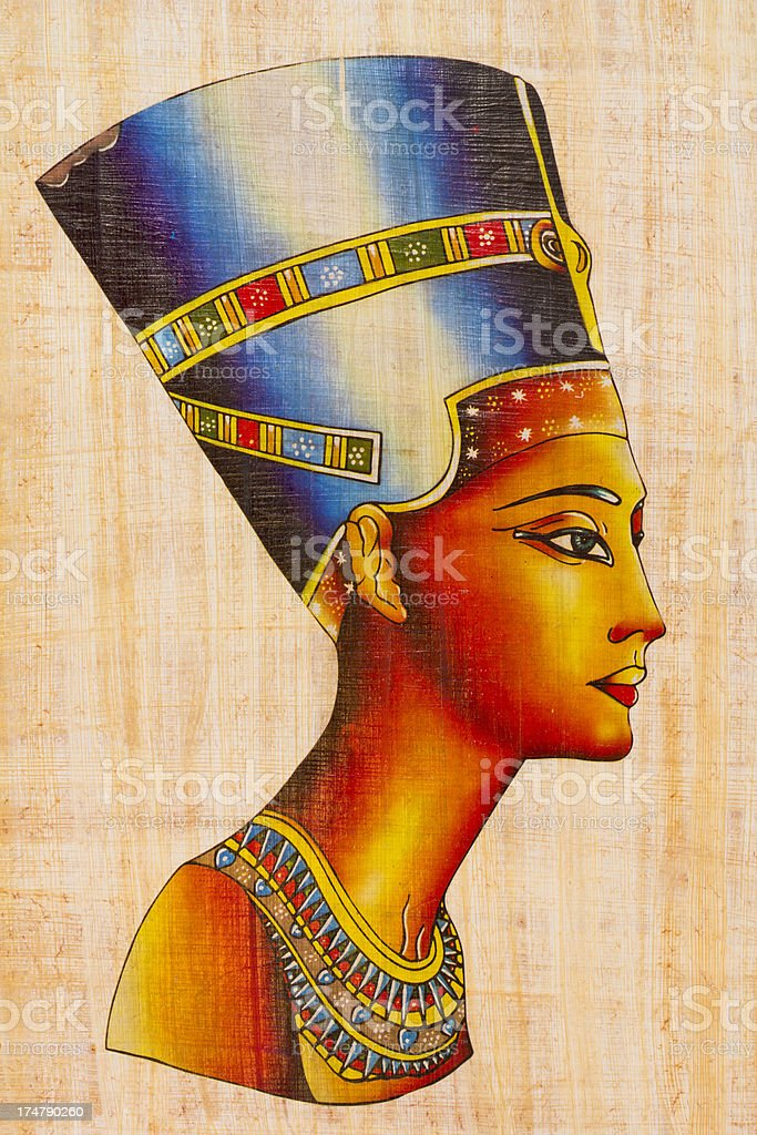 Egyptian Souvenir Papyrus vector art illustration