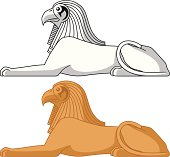 Egyptian Sphinx. Horus.