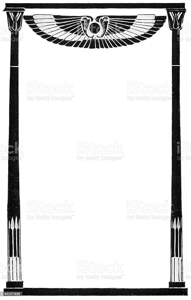 Egyptian-style Frame circa 1900 royalty-free stock vector art