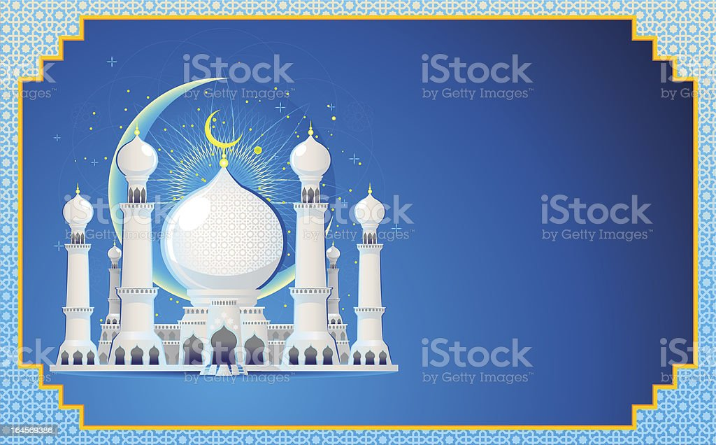 Eid Mubarak Greeting Card royalty-free stock vector art