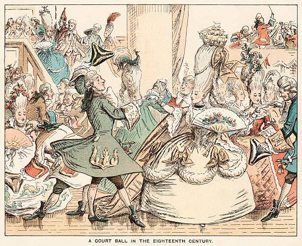 stockillustraties, clipart, cartoons en iconen met eighteenth century court ball - 18e eeuw