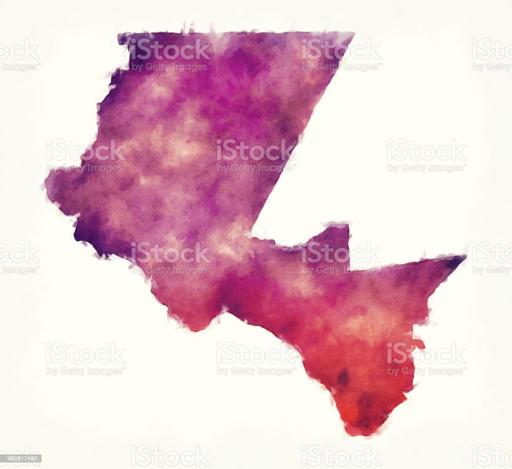 El Paso Texas city watercolor map in front of a white background vector art illustration