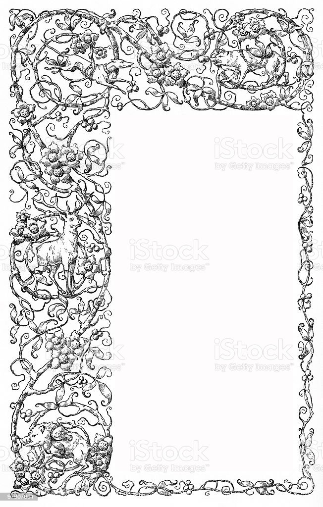 Elaborate Design Frame Offset circa 1884 royalty-free elaborate design frame offset circa 1884 stock vector art & more images of 19th century style
