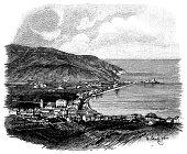 Illustration of a Elba Island, Tuscany, Italy