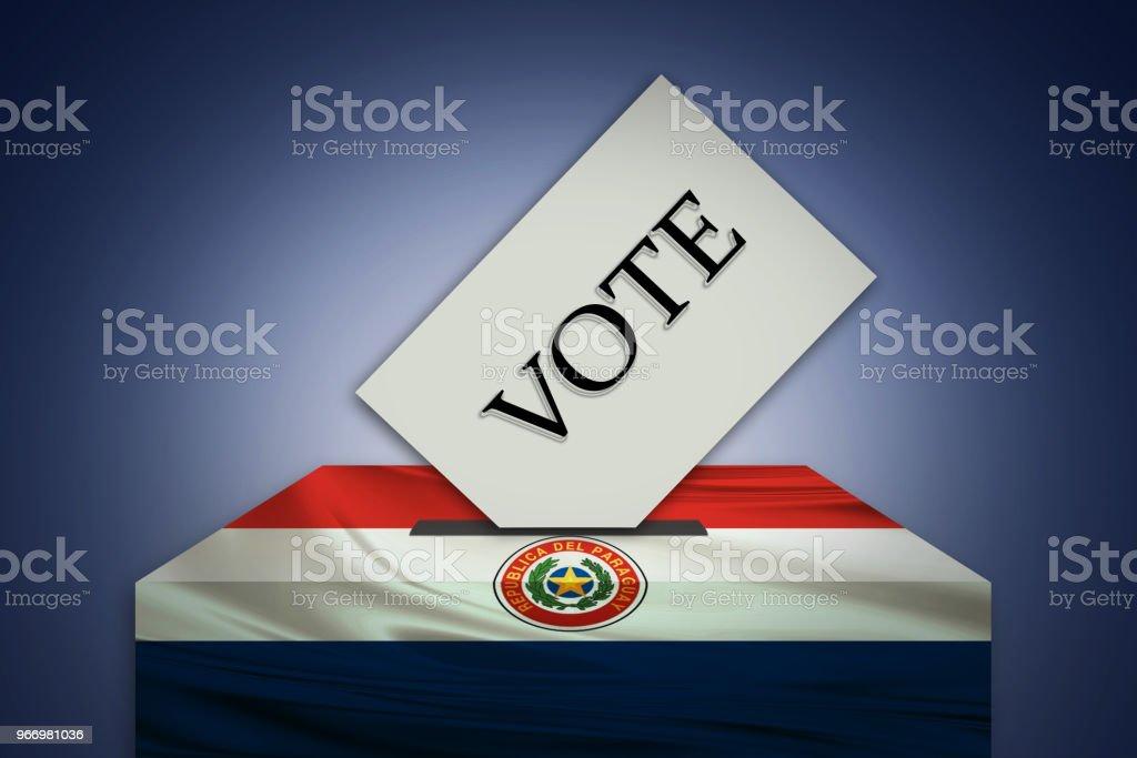 Elecciones en PARAGUAY - votar en las urnas - ilustración de arte vectorial