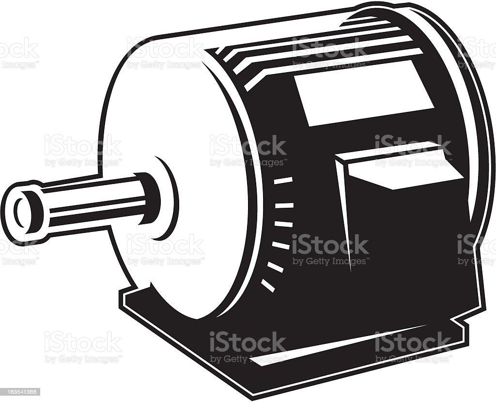 electric motor vector art illustration