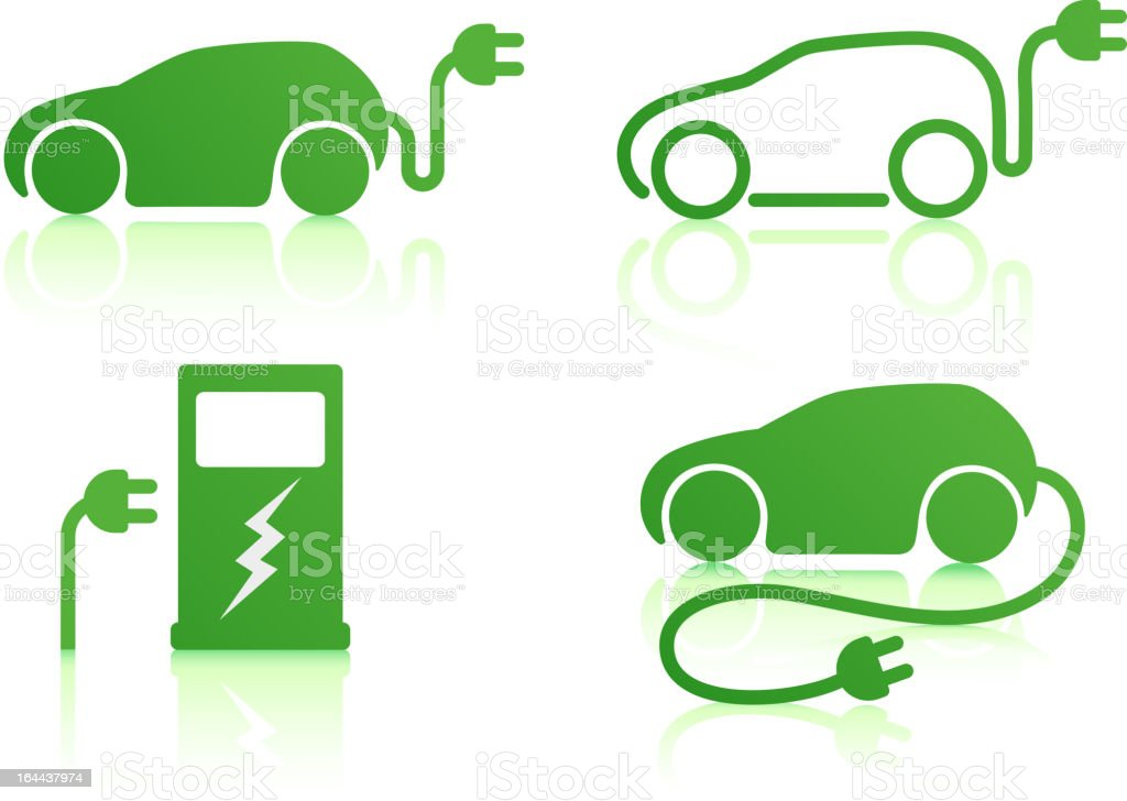 electric powered car royalty-free stock vector art