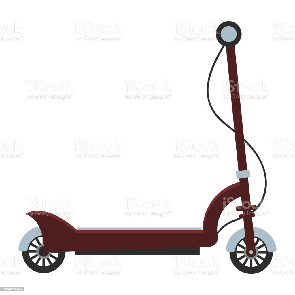 Electric scooter isolated roller scooter. vector art illustration