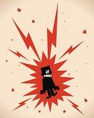 Vector illustration aa Electric Shock.
