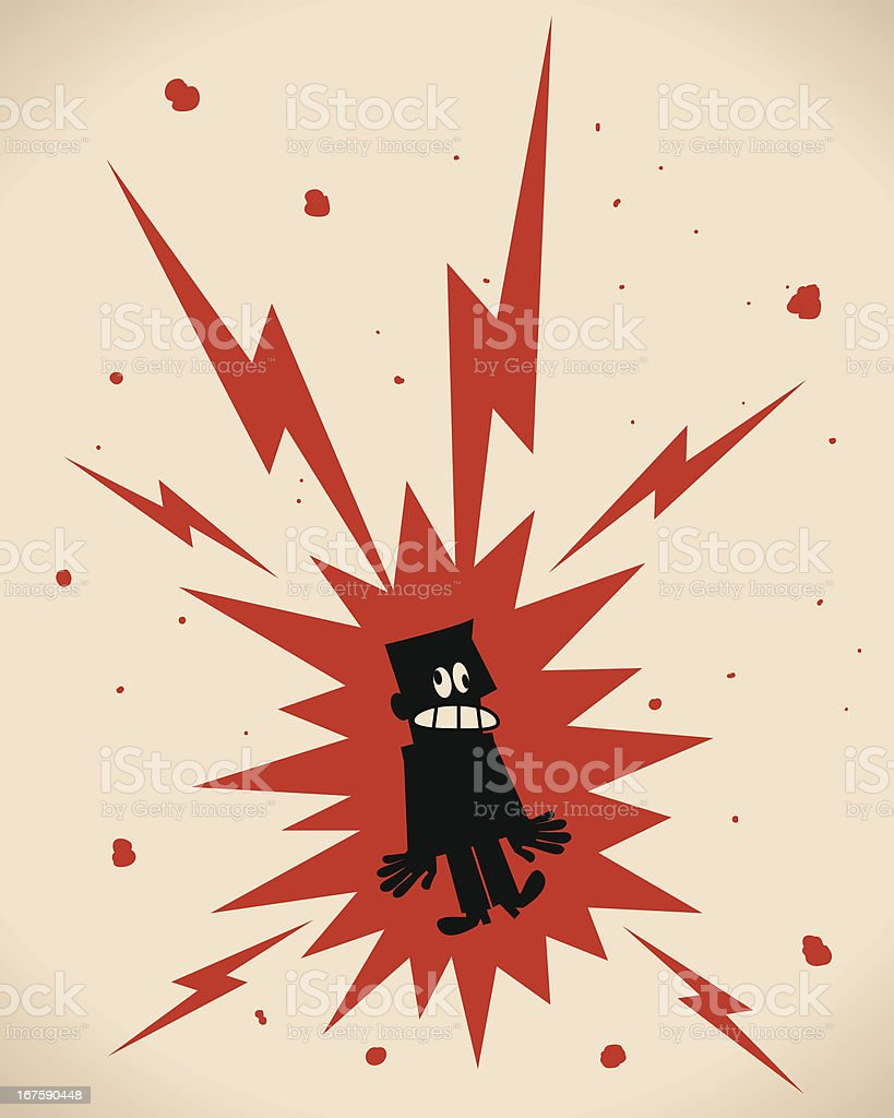 Electric Shock vector art illustration