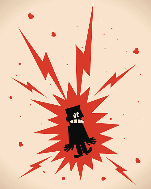 Electric Shock Vector illustration aa Electric Shock. shock stock illustrations