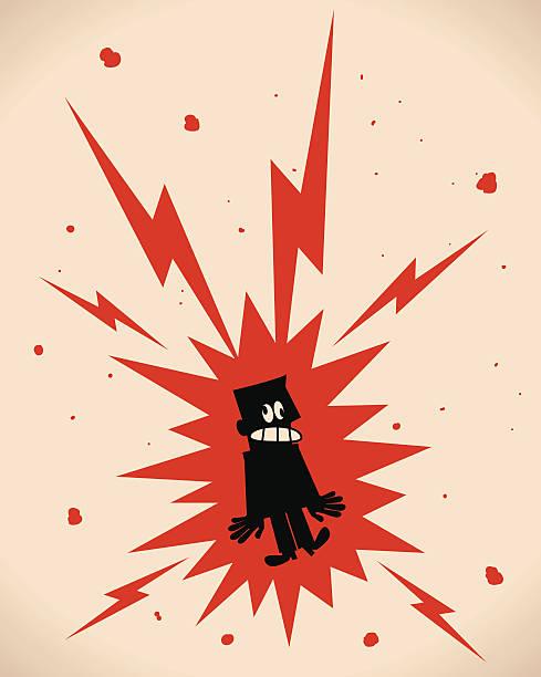 поражение электрическим током - lightning stock illustrations