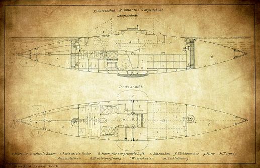 Electric submarine torpedo boat