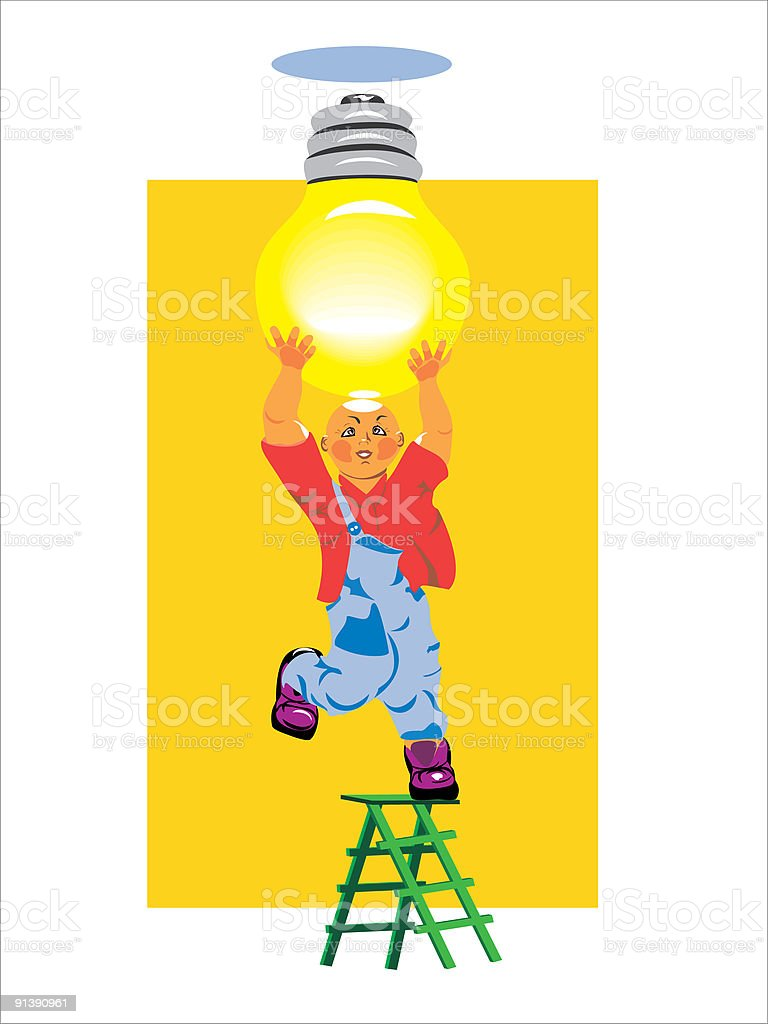 electrician royalty-free stock vector art
