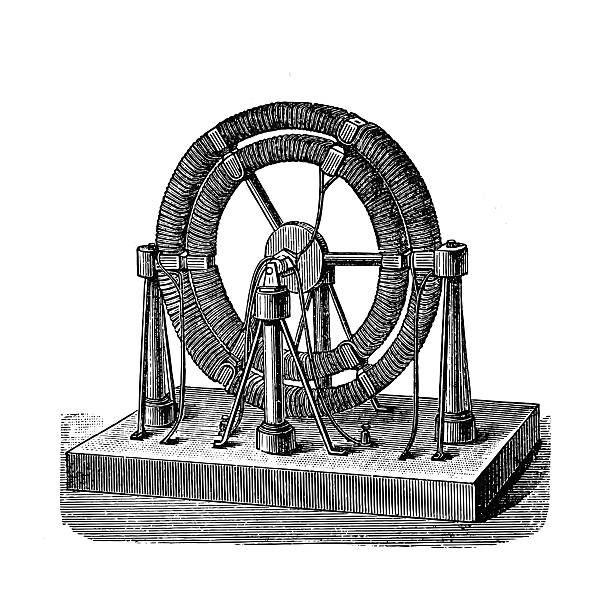 Electro-magnetic machine vector art illustration