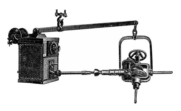 Electromotive drive ,drilling machine vector art illustration