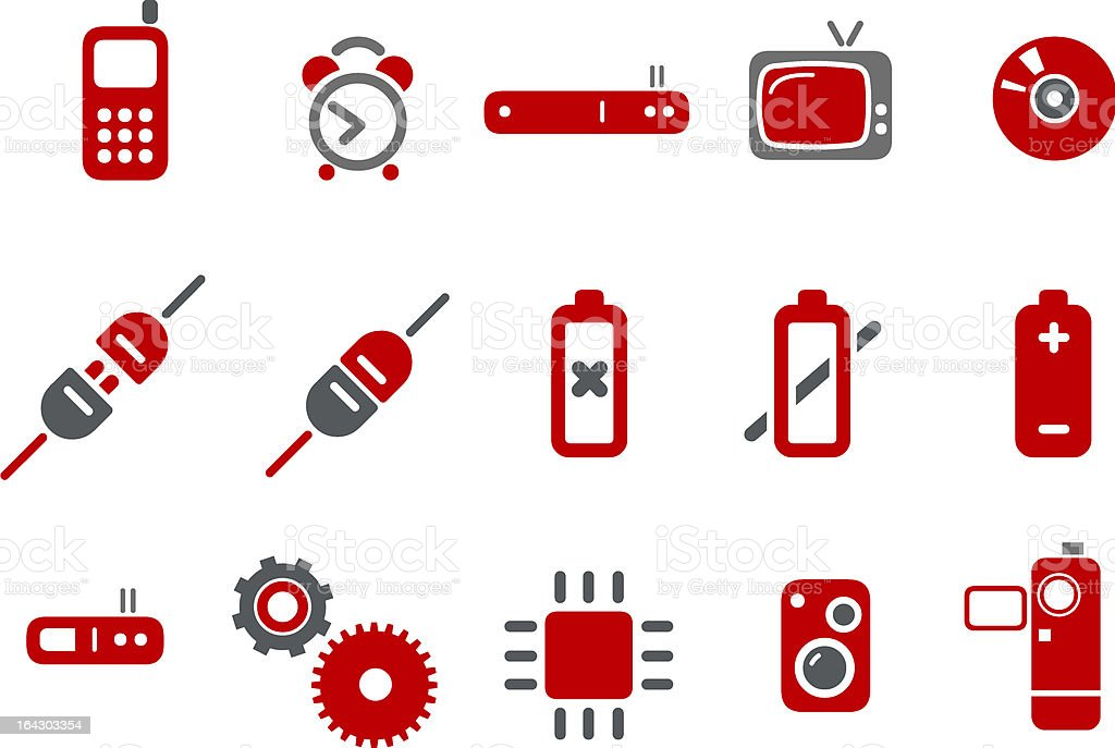 Electronic Icon Set royalty-free stock vector art
