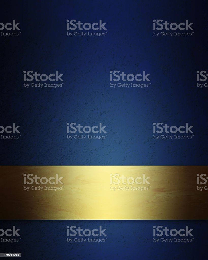 elegant blue and gold Christmas background vector art illustration
