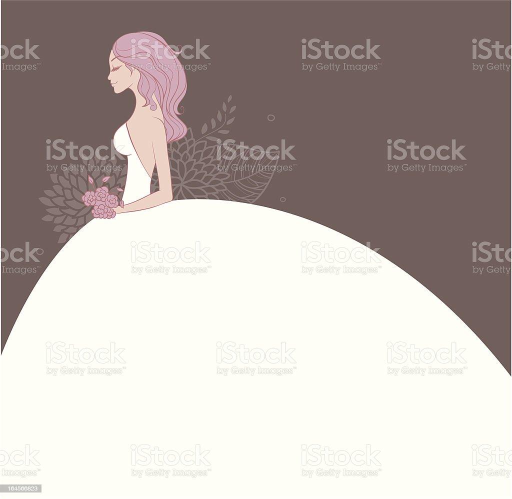 Elegant bride royalty-free stock vector art