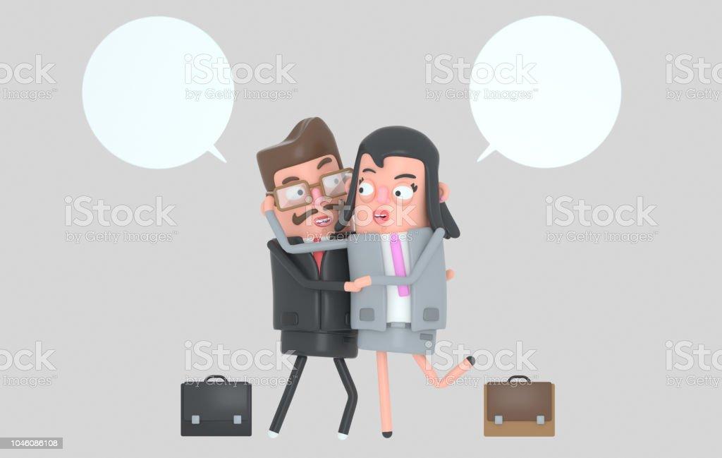 Pareja de negocios elegante en el amor. - ilustración de arte vectorial