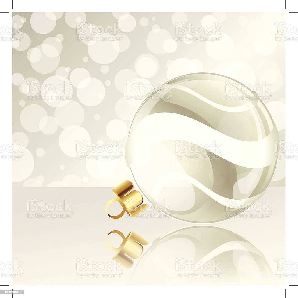 Elegant holiday background with Christmas ornament royalty-free stock vector art