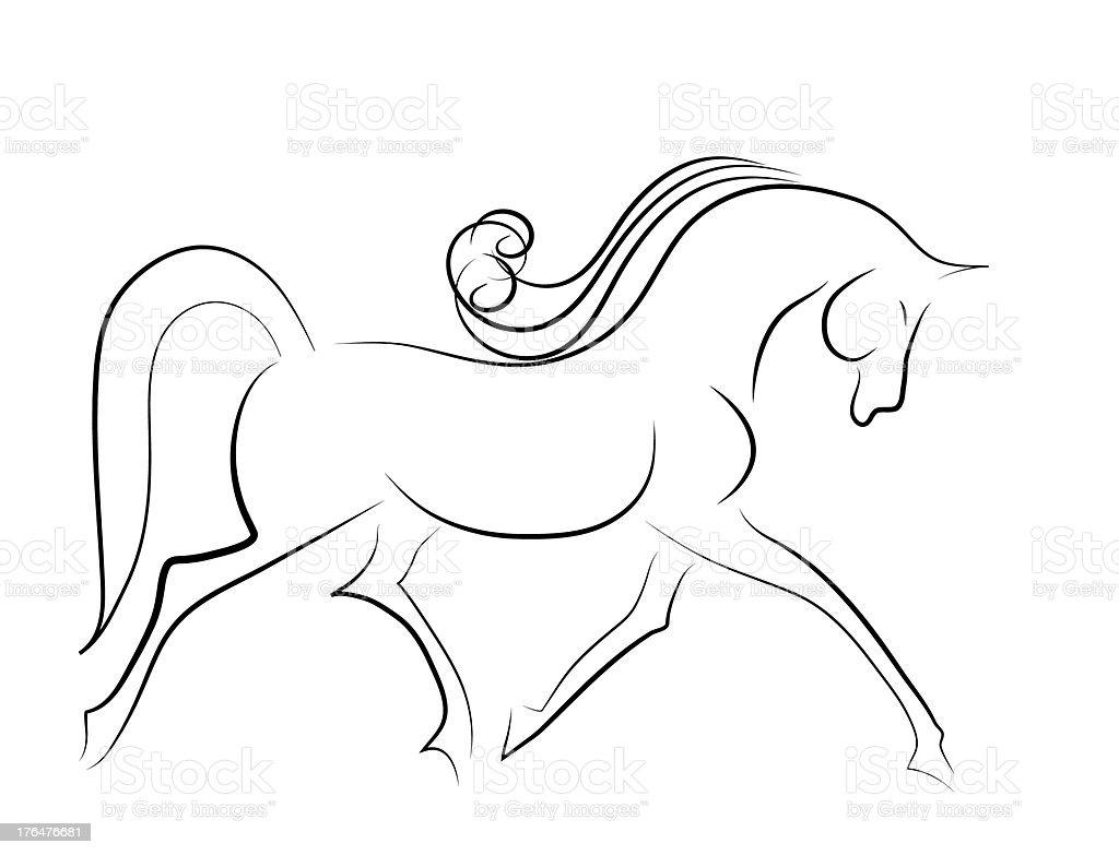 Elegant horse royalty-free stock vector art