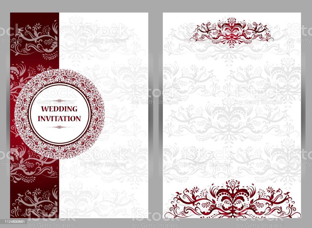 Elegant Save The Date Card Design Vintage Floral Invitation