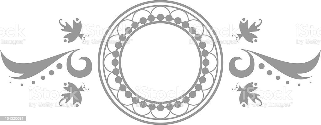 Elegant Vector Emblem royalty-free stock vector art