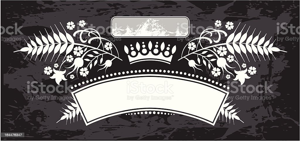 elegant vintage labe with wheat royalty-free stock vector art