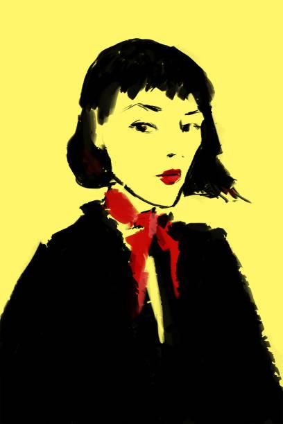 illustrazioni stock, clip art, cartoni animati e icone di tendenza di elegant woman - donna si nasconde