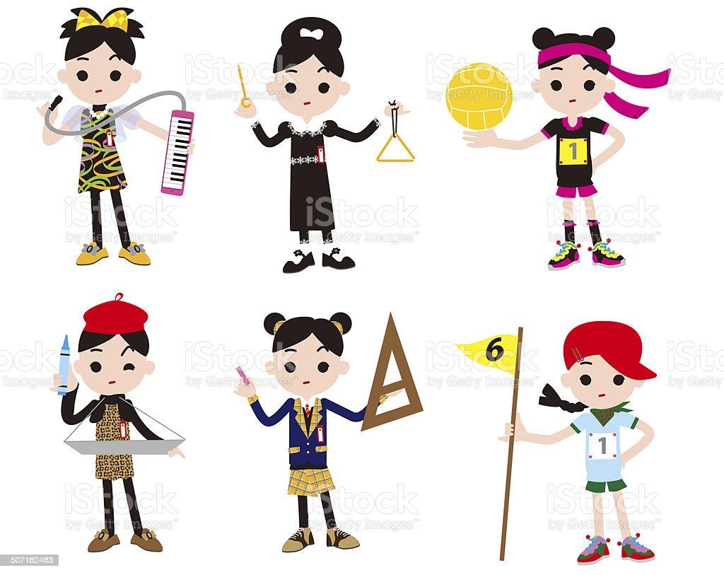 小学生の女の子 キャラクターのベクターアート素材や画像を多数ご用意