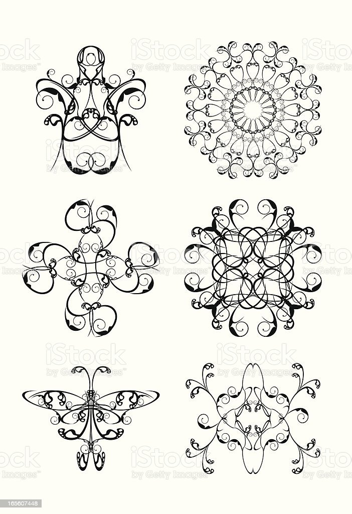 elements for iron barred royalty-free stock vector art