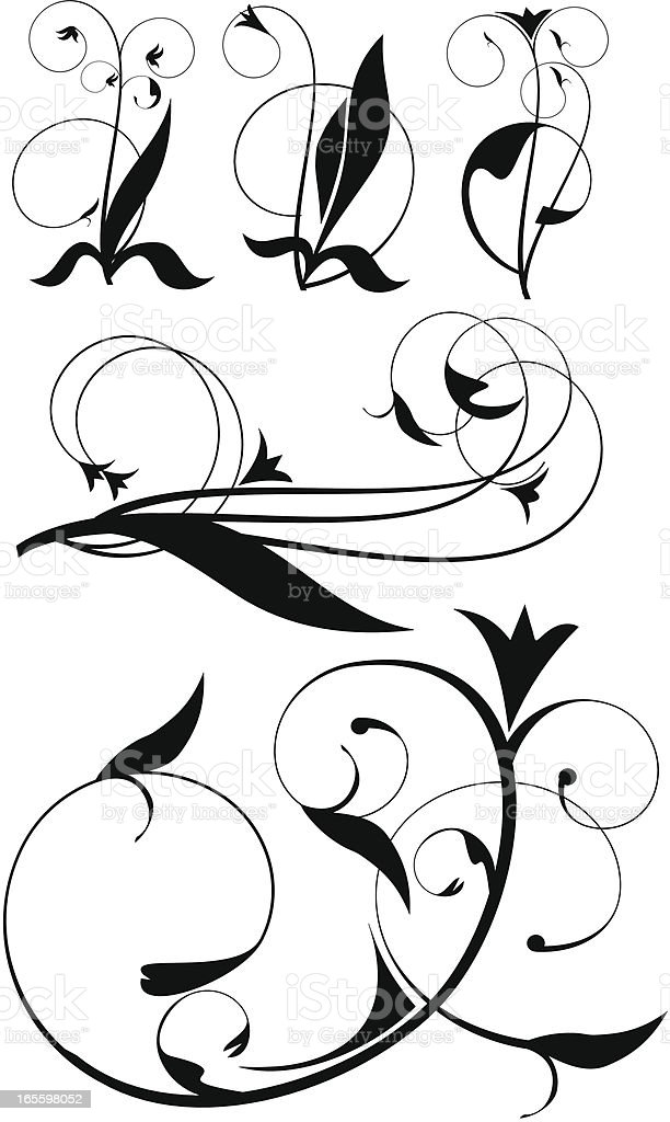 elements for tattoo royalty-free stock vector art