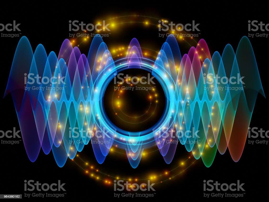 Elements of Radial Oscillation vector art illustration