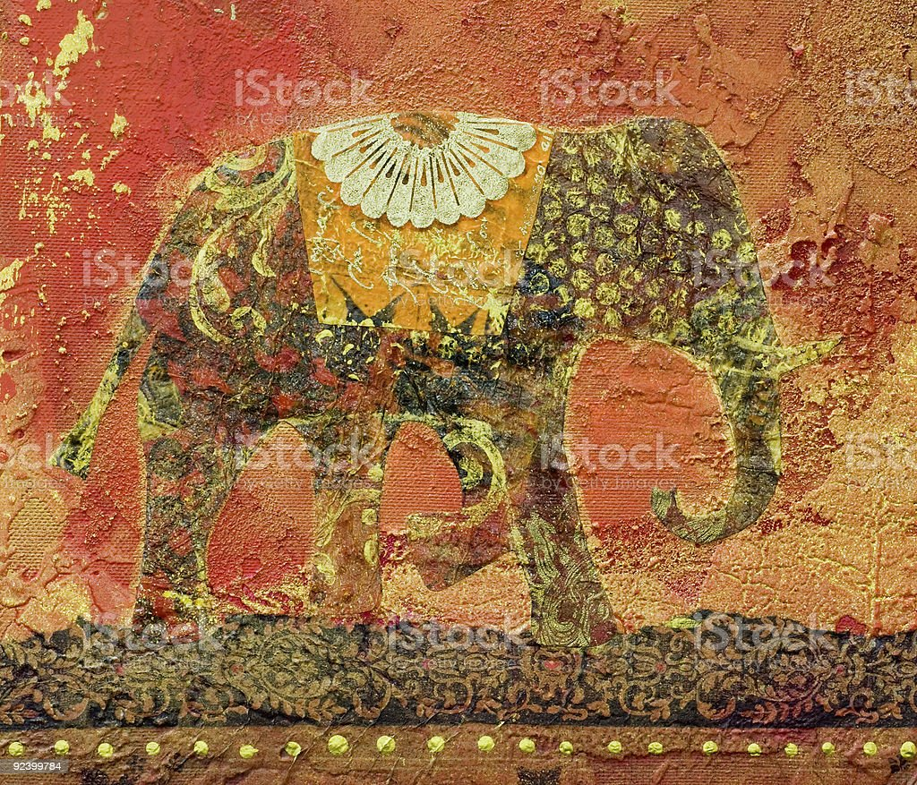 Elephant Collage vector art illustration