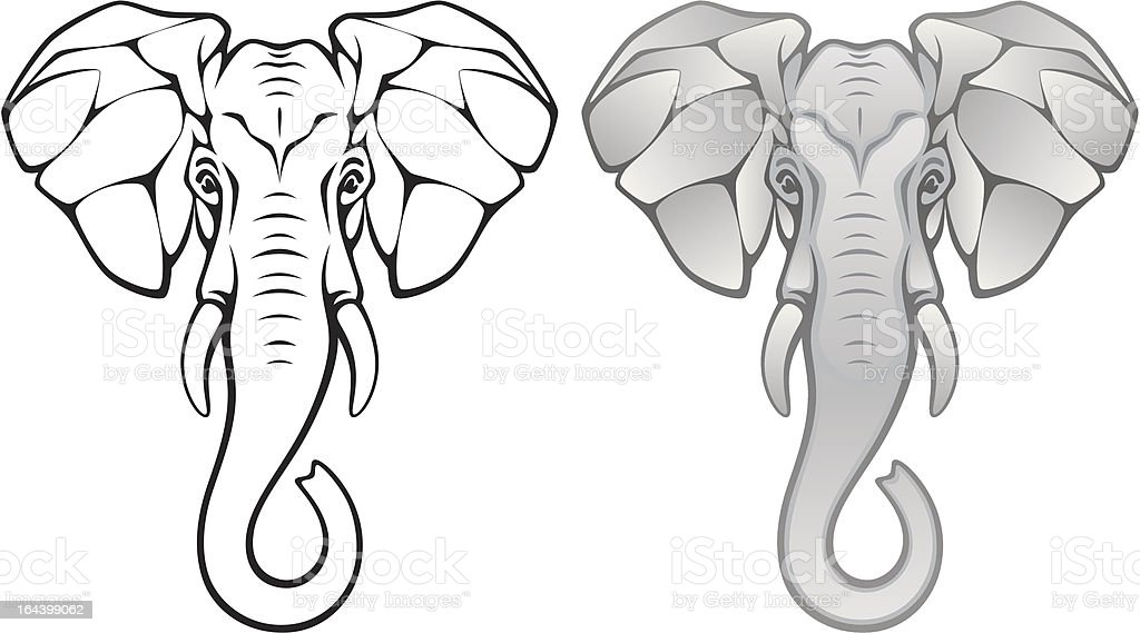 Elephant head royalty-free stock vector art
