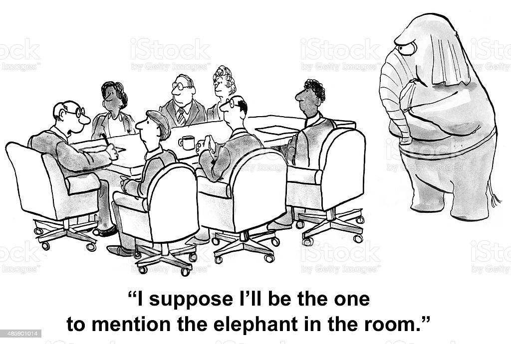 Elephant in the Room - Royalty-free Fil - Kalın Derili Stock Illustration