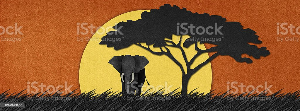 Elephant  made from recycled paper background royalty-free elephant made from recycled paper background stock vector art & more images of africa