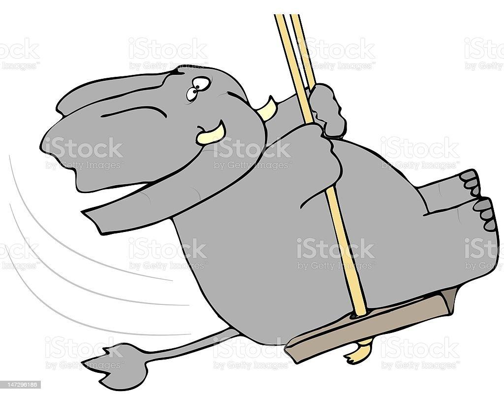Elefant Auf Einer Schaukel Stock Vektor Art Und Mehr Bilder Von